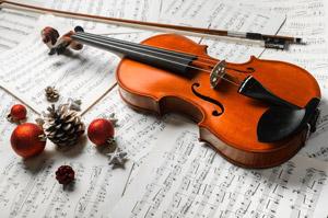 holiday music violin photo